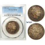 R642, United States, Barber Half Dollar (50C) 1907-D, Denver, Silver, PCGS VF30