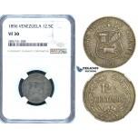R670, Venezuela, 12 1/2 Centimos 1896, NGC VF30