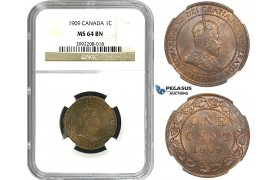 R683, Canada, Edward VII, 1 Cent 1909, NGC MS64BN