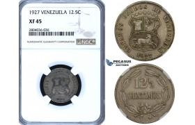 R709, Venezuela, 12.5 Centimos 1927, NGC XF45