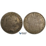 R742, Italy, Naples & Sicily, Ferdinand IV (I.) Piastra de 120 Grana 1799-PM, Naples, Silver, Toned gVF
