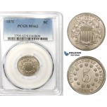R752, United States, Shield Nickel (5C) 1872, PCGS MS62