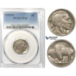 R755, United States, Buffalo Nickel (5C) 1919-D, Denver, PCGS VF20