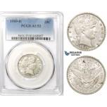 R757, United States, Barber Quarter Dollar (25C) 1909-D, Denver, Silver, PCGS AU53