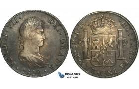 R76, Mexico, Ferdinand VII, 8 Reales 1812 Mo JJ, Mexico City, Silver, Dark toned!
