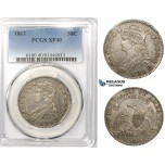 R761, United States, Capped Bust Half Dollar (50C) 1812, Silver, PCGS XF40
