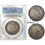 R762, United States, Capped Bust Half Dollar (50C) 1828 (Sq. Base 2, Sm. 8's, Lg Lt) Silver, PCGS XF45