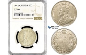 R768, Canada, George V, 50 Cents 1912, NGC XF40