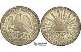 R77, Mexico, 8 Reales 1833 Pi JS, San Luis Potosi, Silver,  aUNC (Few scratches)