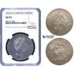 R780, Great Britain, George III, Crown 1820 LX, London, Silver, NGC AU55
