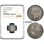 R781, Great Britain, Victoria, Sixpence (6P) 1871 No Die Number, London, Silver, NGC MS62