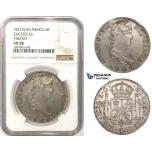 R817, Mexico, Ferdinand VII, 8 Reales 1821 Zs RG, Zacatecas, Silver, NGC AU58