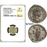 R87, Roman Empire, Julia Mamaea, Augusta (222-235 AD) AR Denarius (2.83g) Rome, Vesta/Palladium, NGC MS