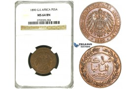 S21, German East Africa (DOA) Pesa 1890, NGC MS64BN