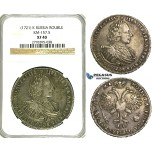 S50, Russia, Peter I, Rouble AѰКA (1721) K, Kadashevsky mint, Moscow, Silver, Bit. 422 (R) NGC XF40, Rare! Dark Old toning!