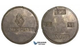 S64, Spain, Palma de Mallorca, Ferdinand VII, 30 Sous 1821, Nice (Few flan cracks)