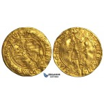 S65, Austria, Bohemia, Rudolph II, Ducat 1583, Prague, Gold (3.43g) Planchet cracks, Rare!