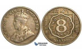 S68, British India, George V, 8 Annas 1919