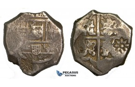 S69, Indonesia, Java? Unknown issuing authority, Cob 8 reales, ND, Silver (27.63g) Nice and Interesting!