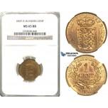 S80, Danish West Indies, Frederik VII, 1 Cent 1859, NGC MS65RB (Prooflike fields) Pop 1/3, No finer!