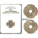 S87, France, Third Republic, Small Module 5 Centimes 1920, Paris, NGC MS66, Rare! (Pop 1/1, Finest!)