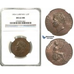 S97, Great Britain, George IV, 1/2 (Half) Penny 1826, NGC MS62BN