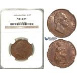 S98, Great Britain, William IV, 1/2 (Half) Penny 1837, NGC AU55BN