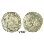 T122, Poland (for Lithuania) Sigismund II Augustus, Groschen 1566-SA, Tykocin, Silver (1.34g) Very Rare!