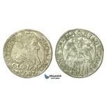 T125, Poland (for Lithuania) Sigismund II Augustus, Groschen 1567-SA, Tykocin, Silver (1.73g)