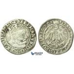 T137, Poland, Stefan Bathory, Groschen 1579, Olkusz, Silver (1.54g) Very Rare!