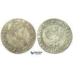 T141, Poland (for Danzig) Sigismund II Augustus, Groschen 1556, Danzig, Silver (1.50g) Rare!