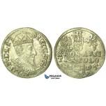 T211, Poland, Sigismund III, 3 Groschen (Trojak) 1595 I/F, Olkusz, Silver (2.35g)