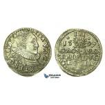 T217, Poland, Duchy of Cieszyn (Silesia) Adam Waclav, 3 Groschen (Trojak) 1597, Silver (2.23g)