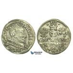 T29, Poland (for Lithuania) Sigismund III, 3 Groschen (Trojak) 1593, Vilnius, Silver (2.39g) XF-aUNC