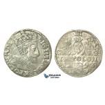 T31, Poland, Sigismund III, 3 Groschen (Trojak) 1593 I/F, Olkusz, Silver (2.19g)