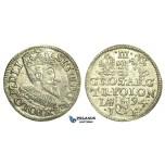 T34, Poland, Sigismund III, 3 Groschen (Trojak) 1594 I/F, Olkusz, Silver (2.37g) aUNC