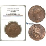 U01, Great Britain, Victoria, Penny 1858 (Large Date, W/O WW) NGC MS64BN