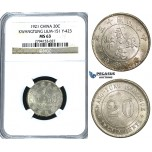 U26, China, Kwangtung, 20 Cents 1921, Silver, L&M 151, NGC MS63