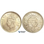 U76, India (British) George VI, Rupee 1940-B, Bombay, Mint State (Light hairlines)