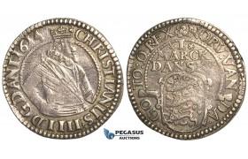 U94, Denmark, Christian IV, Mark 1614, Helsingør, Silver (8.28g) Hede 99 B, Good VF (minor edge filling)