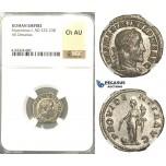 U97, Roman Empire, Maximinus I. Thrax (235-238 AD) AR Denarius, Rome (236 AD) NGC Ch AU