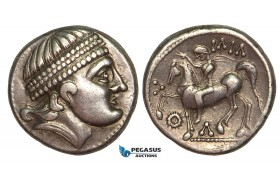 "V03, Eastern Celts, Barbaric Imitation, Burgenland ""Kroisbacher"" AR Tetradrachm (13.31g)"