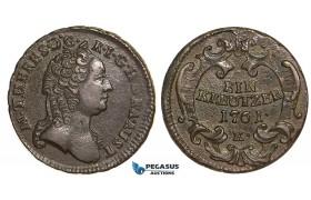 V06, Austria, Maria Theresia, 1 Kreutzer 1761-K, Kremnitz, High Grade, Rare!