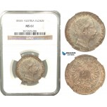 V07, Austria, Franz Joseph, Florin (Gulden) 1858-V, Venice, Silver, NGC MS61