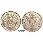 V09, Austria, Franz Joseph, 10 Heller 1892, Very Rare!