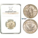 V67, United States, Standing Liberty Quarter (25C) 1927, Silver, NGC AU55