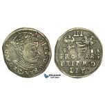 W220, Poland (for Lithuania) Stefan Bathory, 3 Groschen (Trojak) 1583, Vilnius, Silver (2.26g) Dark Toning!