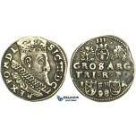 W226, Poland, Sigismund III, 3 Groschen 1598 I/F-H/R, Poznan (Posen) Silver (2.34g)