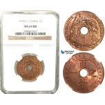 W27, French Indo-China, 1 Centime 1938-A, Paris, NGC MS64RB
