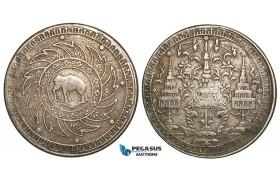 W86, Thailand, Rama IV, Baht ND (1860) Silver, F-VF
